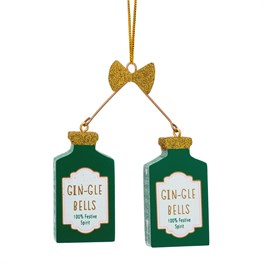 Christmas Cheer Gin-Gle Bells Hanging Decoration