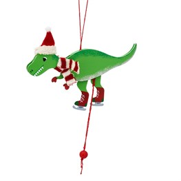 Roarsome Dinosaur Jumping Jack Hanging Decoration