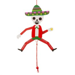 Mexican Skeleton Jumping Jack Hanging Decoration