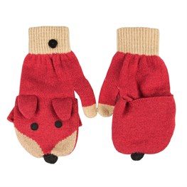 Keep Warm Fox Face Fingerless Gloves