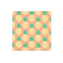 Set of 20 Tropical Summer Pineapple Napkins