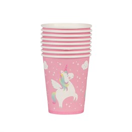 Set of 8 Rainbow Unicorn Paper Cups