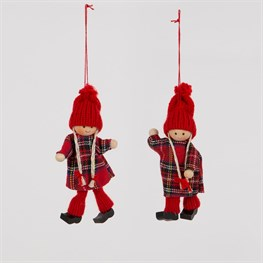 Christmas Retro Doll Hanging Decoration - 1 Piece