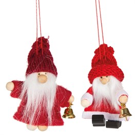 Pixie Santa Doll with Bell & Woolly Hat Decoration