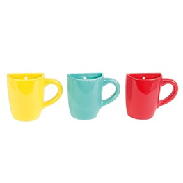 Bold Brights Wall Mounted Mug Vase (options available)
