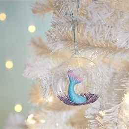 Glitter Mermaid Tail Open Bauble