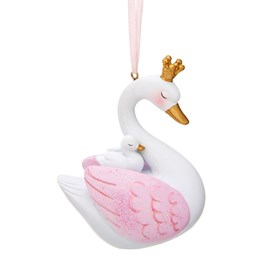 Freya Swan & Baby Swan Shaped Bauble