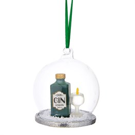 Christmas Cheer Gin and Tonic Dome Bauble