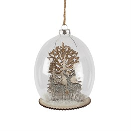 Luxe Forest Stag Dome Bauble