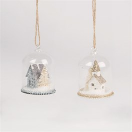 Glitter House Snow Globe Dome Bauble - 1 Piece