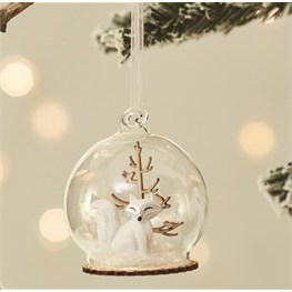 Winter Forest Fox Dome Bauble