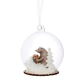 Winter Wonderland Bear Dome Bauble