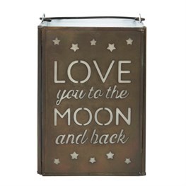 Love You to the Moon Stars Tealight Holder