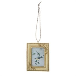 Square Gold Mini Hanging Photo Frame