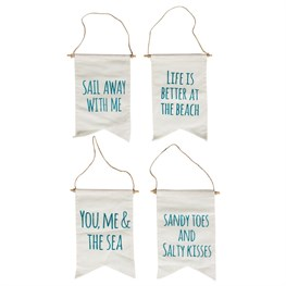 You & Me Seaside Message Flag  (options available)