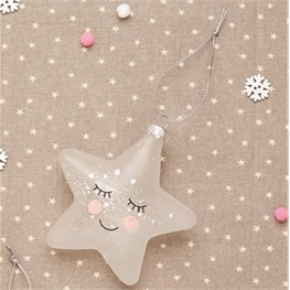 Sweet Dreams Speckled Star Shaped Bauble