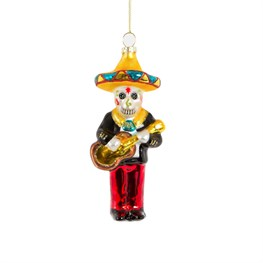Manny Mariachi Day of The Dead Shaped Bauble