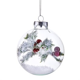 Festive Flora Holly Sprig Bauble
