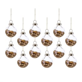 Gold Mini Baubles - Set of 12