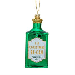 Let Christmas Be-Gin Shaped Bauble