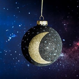 Luxe Glitter Star and Moon Bauble