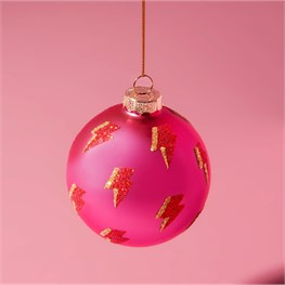 Girl Power Lightning Bolt Bauble