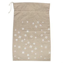 Snowflakes Drawstring Bag