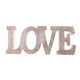 Large Love Wooden Word