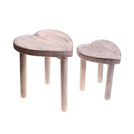 Set of 2 Heart Stools