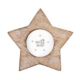 Star Shaped White Wood Effect Photo Frame