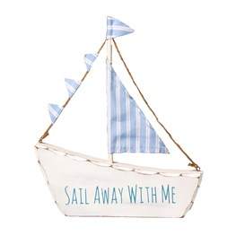 Sail Away with Me Boat Decoration