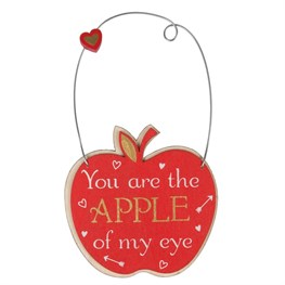 You Are the Apple of My Eye Mini Plaque