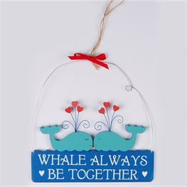 Whale Always Be Together Mini Plaque