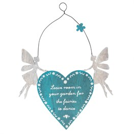 Leave Room for the Fairies Heart Plaque