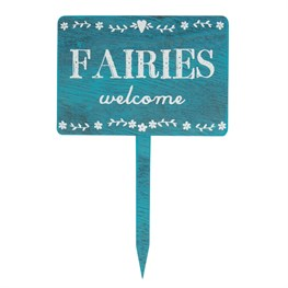 Fairies Welcome Wooden Garden Sign