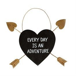 Every Day is an Adventure Gold Arrow Adventure Heart Plaque