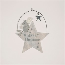Mrs Grey The Mouse Christmas Star Hanging Plaque