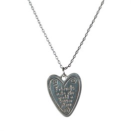 Friends Make the World a Better Place Heart Necklace