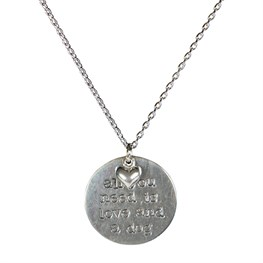 All You Need is Love & a Dog Disc Necklace