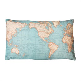Around the World Map Cushion