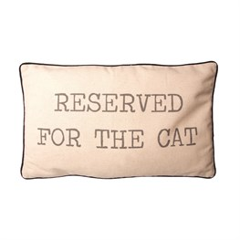 Reserved for the Cat Pillow Cover