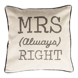 Rustic Mrs Always Right Cushion