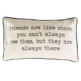 Friends Are Like Stars Rustic Cushion