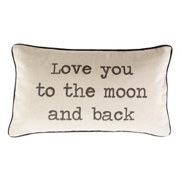 Love You to the Moon & Back Rustic Pillow Cover