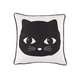 Black Cat Cushion with Inner