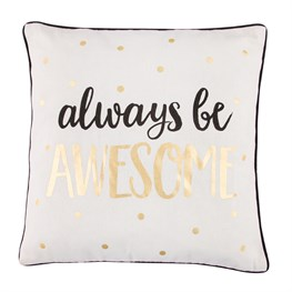 Awesome Metallic Monochrome Pillow Cover