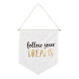 Metallic Monochrome Dreams Message Flag