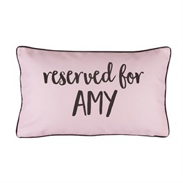 Reserved For Personalised Cushion Pink