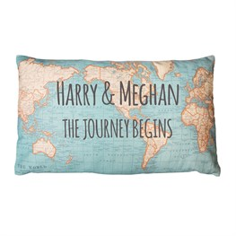'The Journey Begins' Personalised Cushion