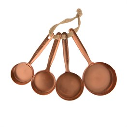 Set of 4 Copper Measuring Cups